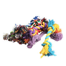 1 X Chew Toy with Knot Fun Tough Strong Puppy Dog Pet Tug War Play Cotton Rope