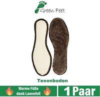 Lammfell Winter Einlegesohlen rutschfest Wolle Thermosohlen Schuheinlagen warm