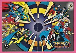 Zero Month, Postcard Size Promo Sheet. DC Comics