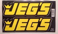 JEG'S NHRA Drag Racing NASCAR Decal Stickers