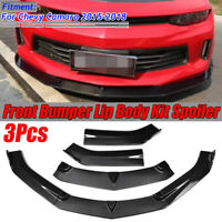 Carbon Fiber Look Front Bumper Lip Spoiler For Chevy Camaro V6 LS RS