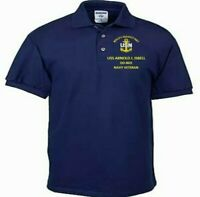 USS ARNOLD J. ISBELL  DD-869  NAVY ANCHOR EMBROIDERED LIGHT WEIGHT POLO SHIRT