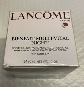 Lancôme Bienfait Multi Vital Night Moisturizing Cream 1.7oz Sealed Batch 40R404