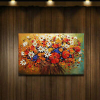 CHOP112 100% hand-painted wall art abstract Flowers oil painting on canvas
