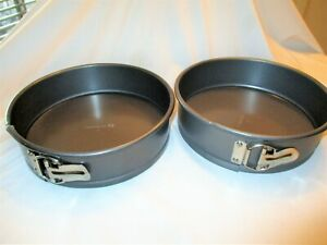 "Calphalon Set Of 2 - 9"" Cake Cheesecake Springform Non Stick Baking Pans"