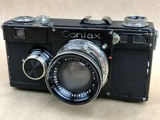 Contax If Black Rangefinder Camera w/ Carl Zeiss 5cm f/2 Sonnar - Rare