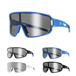 Polarized Cycling Sunglasses Photochromic Glasses Windproof Bike Goggles BMX MTB