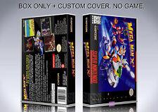 MEGAMAN X 2. NTSC VERSION. Box/Case. Super Nintendo. BOX + COVER. (NO GAME)