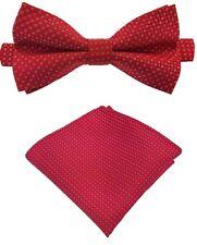 Fliege + Einstecktuch Schleife Smokingfliege Binder de Luxe 126 rot Krawatten
