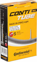 Continental Race Light 42mm Presta Valve Tube Blak 700 x 25c Removable Core  NEW