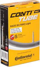 Continental Race Light 42mm Presta Valve Tube Blak 700 x 25c Removable Core  NEW