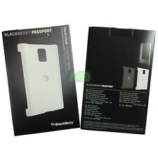 Genuine BlackBerry Passport White Hard Shell Case Back Cover w Screen Protector