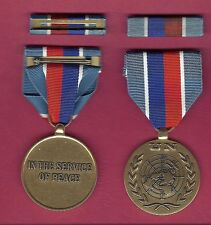 UN United Nations medal for Haiti with ribbon bar UNMIH