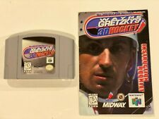 Wayne Gretzky's 3D Hockey (Nintendo 64) Game + Manual (Cleaned Tested Working!)