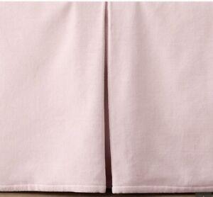 Restoration Hardware Baby & Child Velvet Crib Skirt-Petal Pink