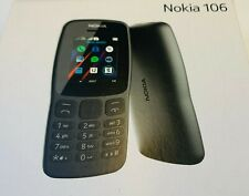 New Nokia 106 Single Dual Sim - Black Unlocked Basic Call Text Mobile Phone