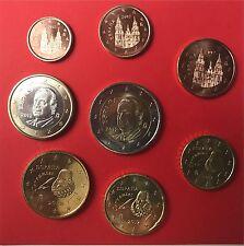 Euro-KMS SPANIEN 2012 - prägefrisch alle 8 Euromünzen 1 Cent - 2 Euro