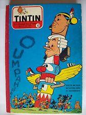 album Tintin belge 42 1958 59 recueil BE Graton Cuvelier Tibet Hergé etc