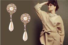 Blogger FAV GP scintillanti cristalli austriaci Perla Goccia Dangle Earrings – NUOVO