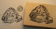 "Lion & Lamb rubber stamp 2.75x2"" WM P11"