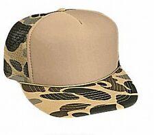 Camoflage Tan Front Trucker Hat mesh hat snapback hat