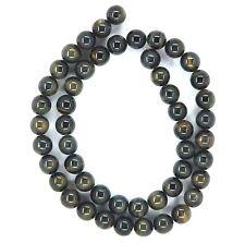 "15.5"" NATURAL Blue Tiger's Eye Round ~50 Beads 8mm K4605"