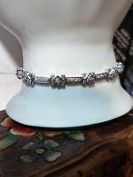 14k 1.50 Ctw Diamond Bracelet Bezel 7 1/4in Estate Top Quality Si1-3 G-H 13.1 Gr