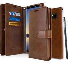 For Samsung Galaxy Note 8 Trifold holder Flip wallet leather Case Cover Note 5 4