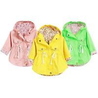 2-7Y Children Baby Girls Outerwear Hooded  Polka Dot Jackets Coats Hoodies Coats