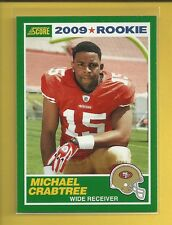 Michael Crabtree RC 2009 Score Rookie Card # 4 Oakland Raiders Football NFL