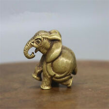 Chinese pure brass elephant Small statue