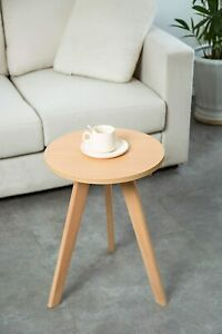 Modern Side Table Small Sofa End Retro Round Furniture Lamp Plant Stand