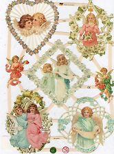 1 Bogen Glanzbilder Poesie Scraps Engel ef 7353 Nr.442