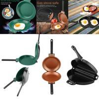 Folding Non-stick Double Side Frying Pan Omelette Egg Breakfast Kitchen Cookware