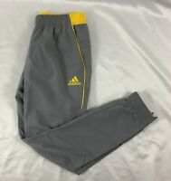 Adidas Men's Athletic Foundation Jogger Pant Gray Yellow BP7542 NWOT Size L