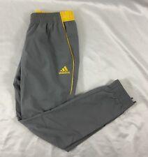Adidas Men's Athletic Foundation Jogger Pant Gray Yellow BP7542 Size M