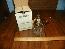 Vintage INTERNATIONAL SILVER COMPANY 3 Pc. Condiment Set w Box - Silverplate