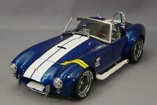 KYOSHO 1:18 SHELBY COBRA 427 S/C WITH YELLOW TRIPES DIE-CAST BLUE 08045