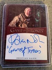 Game of Thrones Series 8 Kristian Nairn as Hodor Inscription auto MINT