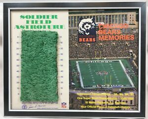 Chicago Bears Soldier Field Astro Turf Square Framed 1979-1988 NFL