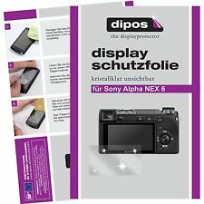 6x dipos Sony Alpha NEX 6 Protector de Pantalla protectores transparente