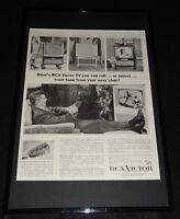1955 RCA Victor TV Television Framed ORIGINAL 11x17 Advertising Display