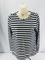 Nautica Womens Large Striped Long Sleeve