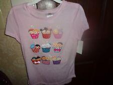 Nwt Tsum Tsum Disney Girl's Ss Cupcake Bow tie Pink Tee T Shirt L Large 10-12