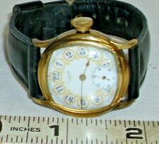 ELGIN WATCH 1920s FANCY CUSHION CASE ART DECO GOLD FILLED WRISTWATCH