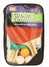 2 Player Table Tennis Set, 2 Bats, 3 Balls, Net & Poles & Zip Bag Indoor Game