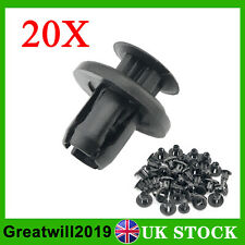 20X For Honda Push Bumper Grille & Engine Under Tray Trim Panel Clips 10mm Hole