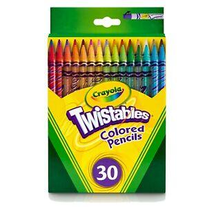 Crayola Twistables Colored Pencils 30-Color Set