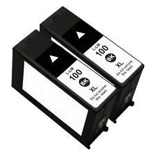 2 PK Compatible for Lexmark 100XL Black Ink Cartridges Interpret S405
