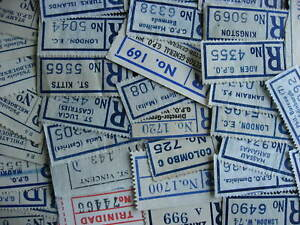 Registered, Registration labels 37 different used includes commonwealth islands!